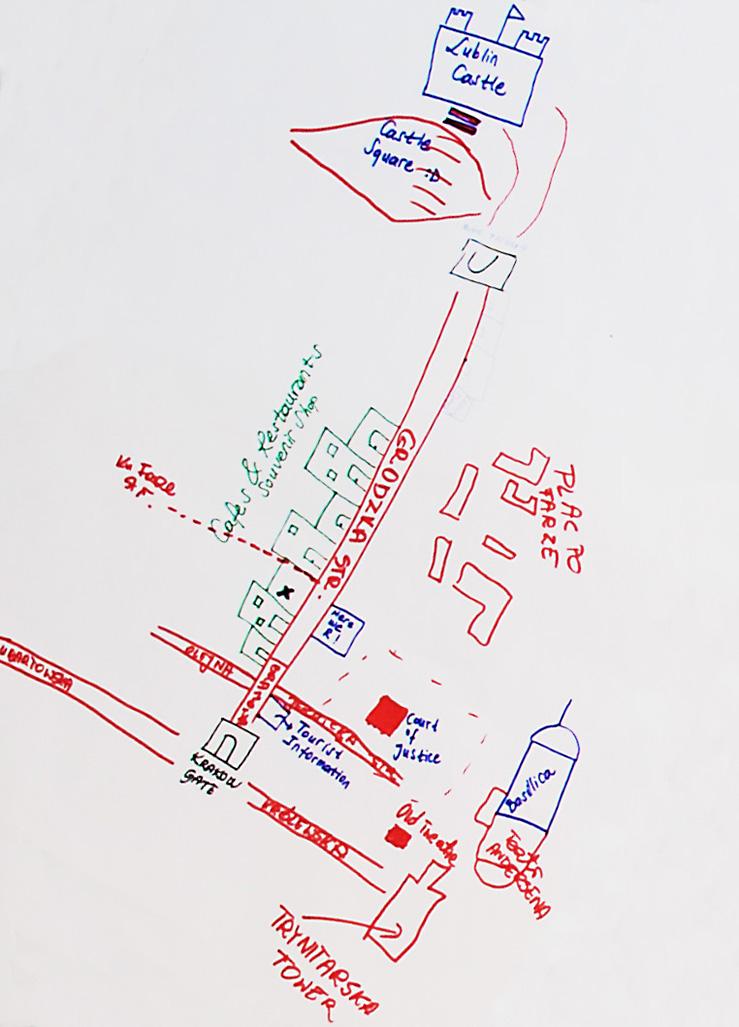 Mapa mentalna Starego Miasta
